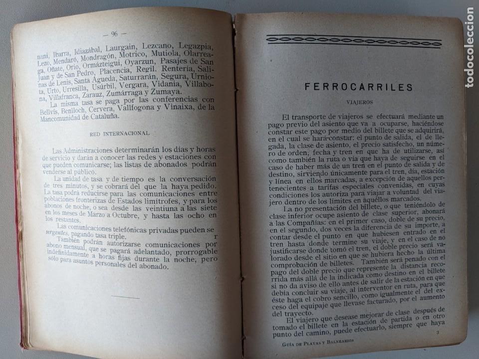 Libros antiguos: 1925 ANUARIO-GUIA PLAYAS Y BALNEARIOS DE ESPAÑA - EDITORIAL HERCULES - MADRID CEUTA - Foto 3 - 194495258