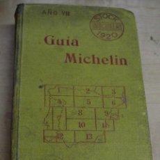 Libros antiguos: GUÍA MICHELIN AÑO VII 1920 . Lote 194496048