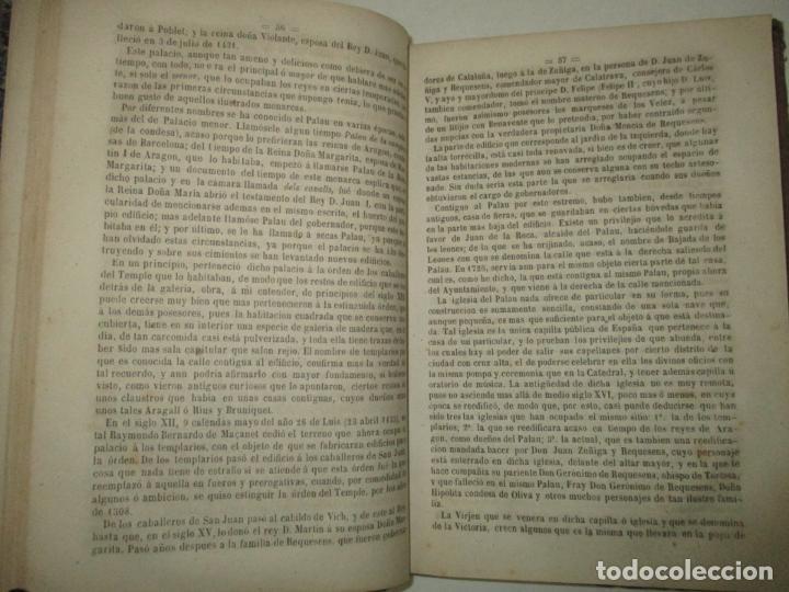 Libros antiguos: GUIA-CICERONE DE BARCELONA,..BOFARULL I BROCÁ, Antonio de. 1855. - Foto 4 - 194512310