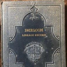 Libros antiguos: HEIRLOOM LÍNEA HE RECORD LIBRO PARA COMPLETAR UN ÁRBOL GENEALÓGICO GENEALOGÍA EN INGLÉS. Lote 194584655