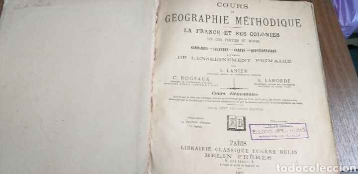 Libros antiguos: LIBRO FRANCIA Y SUS COLONIAS.1923. - Foto 2 - 194756742