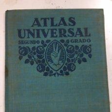 Libros antiguos: LIBRO ATLAS UNIVERSAL SEGUNDO GRADO 1931 MAPAS. Lote 194941975