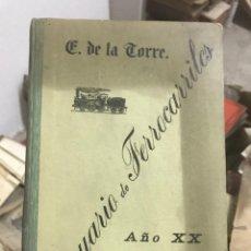 Libros antiguos: ANUARIO DE FERROCARRILES AÑO 1912.. Lote 195008687