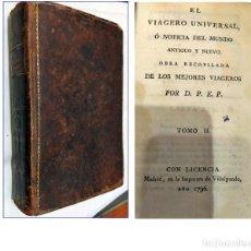 Libros antiguos: AÑO 1795: EL VIAJERO UNIVERSAL, LIBRO ESPAÑOL DEL SIGLO XVIII. . Lote 195044075