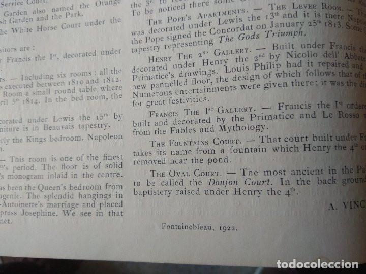 Libros antiguos: Le Palais de Fontainebleau / Fontainebleau Palace - Año 1922 - Foto 2 - 195081921