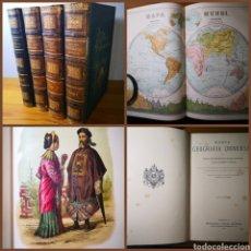 Libros antiguos: 1887 - NUEVA GEOGRAFÍA UNIVERSAL, MONTANER Y SIMÓN, OBRA COMPLETA EN CUATRO TOMOS, MALTE-BRUN. Lote 195155220