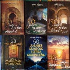 Libros antiguos: LOTE DE 10 LIBROS SOBRE LUGARES MÁGICOS DE ESPAÑA. Lote 195213290