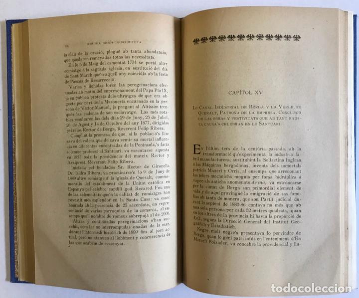 Libros antiguos: MEMORIA HISTÓRICH-DESCRIPTIVA DEL SANTUARI DE NTRA. SRA. DE QUERALT. - Foto 3 - 196874953