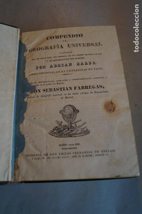 Libros antiguos: COMPENDIO DE GEOGRAFIA UNIVERSAL. ADRIAN BALBI. 1836 - Foto 3 - 196975445