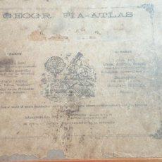 Libros antiguos: ANTIGUO ATLAS DE GEOGRAFÍA POR G. M. BRUÑO. Lote 197195655