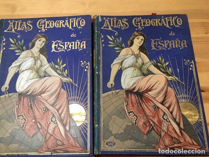 ATLAS GEOGRÁFICO DE ESPAÑA. DESCRIPCIÓN GEOGRÁFICA Y ESTADÍSTICA. ESCUDÉ BARTOLI. 2 TOMOS (Libros Antiguos, Raros y Curiosos - Geografía y Viajes)