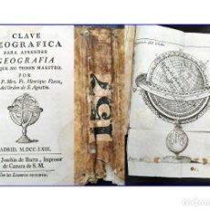 Libros antiguos: AÑO 1769: MADRID. APRENDER GEOGRAFÍA LOS QUE NO TIENEN MAESTRO. PERGAMINO. MUY RARO.. Lote 200757353