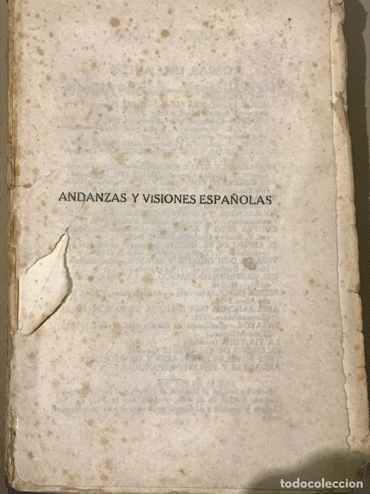 ANDANZAS Y VISIONES ESPAÑOLAS POR MIGUEL DE UNAMUNO 1922 (Libros Antiguos, Raros y Curiosos - Geografía y Viajes)
