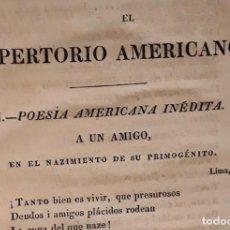 Libros antiguos: EL REPERTORIO AMERICANO TOMÓ 2 LONDON 1827 BOSSANGE, BARTHES Y LOWELL. Lote 202825365