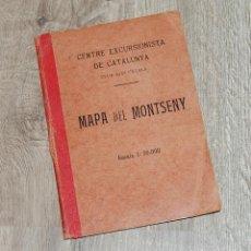 Libros antiguos: MAPA DEL MONTSENY - CENTRE EXCURSIONISTA DE CATALUNYA - 1924. Lote 202883988