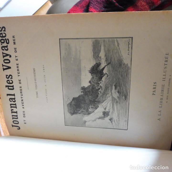 JOURNAL DES VOYAGES TOMO 1891 ENERO- JUNIO VIAJES GRABADOS Y MAPAS (Libros Antiguos, Raros y Curiosos - Geografía y Viajes)