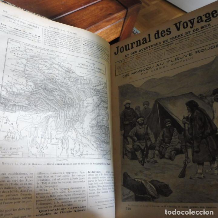 Libros antiguos: Journal des voyages TOMO 1891 ENERO- JUNIO VIAJES GRABADOS Y MAPAS - Foto 2 - 203604547