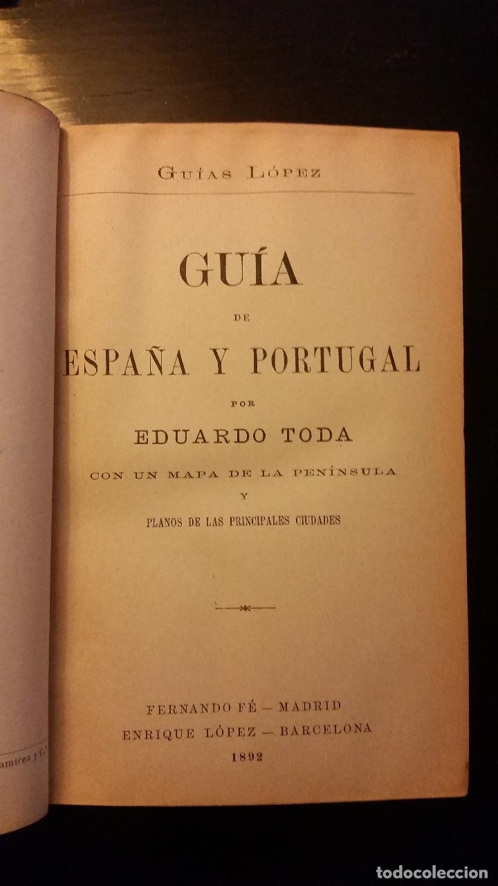 Libros antiguos: 1892 - EDUARDO TODA - Guía de España y Portugal - PLANOS - Foto 5 - 204171812