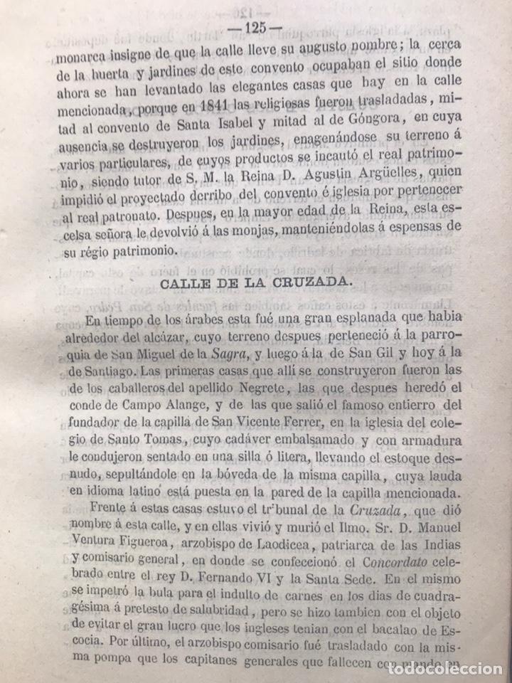 Libros antiguos: ORIGEN HISTÓRICO Y ETIMOLÓGICO DE LAS CALLES DE MADRID - D. ANTONIO CAPMANI Y MONTPALAU - 1863 - Foto 4 - 205136031