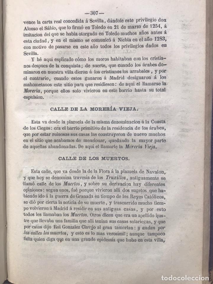Libros antiguos: ORIGEN HISTÓRICO Y ETIMOLÓGICO DE LAS CALLES DE MADRID - D. ANTONIO CAPMANI Y MONTPALAU - 1863 - Foto 5 - 205136031