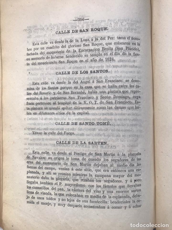 Libros antiguos: ORIGEN HISTÓRICO Y ETIMOLÓGICO DE LAS CALLES DE MADRID - D. ANTONIO CAPMANI Y MONTPALAU - 1863 - Foto 6 - 205136031