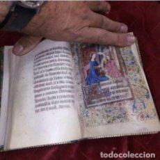 Libros antiguos: LIBRO DE HORAS . SIGLO XV. ORIGINAL .DATA DE 1440 , MANUSCRITO.FRANCIA . UNICO EN EL MUNDO.. Lote 205302082