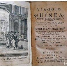 Libros antiguos: AÑO 1752: VIAJE A GUINEA.. Lote 205326190