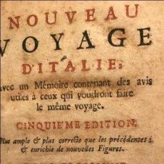 Libros antiguos: NOUVEAU VOYAGE D'ITALIE...TOMO III, 1717. F. MAXIMILIEN MISSON. NUMEROSOS GRABADOS. Lote 205594032