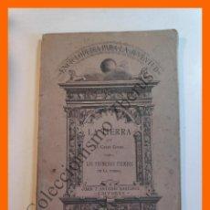 Libros antiguos: LA TIERRA. I .- LOS PRIMEROS TIEMPOS DE LA TIERRA - CELSO GOMIS. Lote 205842808