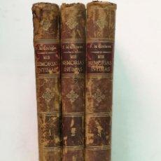 Libros antiguos: MIS MEMORIAS ÍNTIMAS MADRID 1886. Lote 206467183