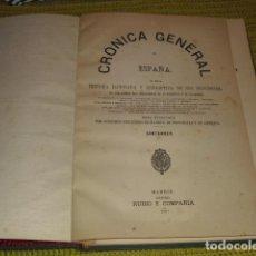 Libros antiguos: CRONICA GENERAL DE ESPAÑA - SANTANDER - POR MANUEL DE ASSAS 1867. Lote 207561833