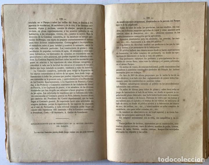 Libros antiguos: EXPOSICION UNIVERSAL DE PARIS DE 1867. REGLAMENTO GENERAL aprobado por decreto de S. M. el Emperador - Foto 3 - 208831503