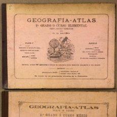 Libros antiguos: GEOGRAFÍA-ATLAS (1º GRADO O CURSO ELEMENTAL Y 2º GRADO O CURSO MEDIO). G.M. BRUÑO. 1921.. Lote 209072222