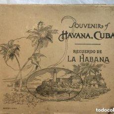 Libros antiguos: SOUVENIR OF HAVANA - CUBA - RECUERDO DE LA HABANA - EDICION JORDI - EN INGLES Y ESPAÑOL - 64P. 27X21. Lote 209205100
