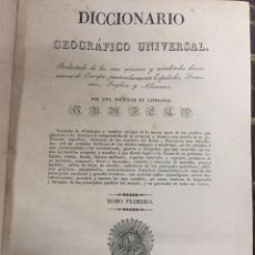 Libros antiguos: DICCINARIO GEOGRAFICO UNIVERSAL. BARCELONA. JOSE TORNER. 1830-34.. Lote 209236957