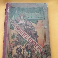 Libros antiguos: LIBRO ATLAS GEOGRÁFICO UNIVERSAL 1903 POR JOSE PALUZIE 22 MAPAS.. Lote 210190745