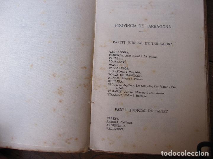 Libros antiguos: NOMENCLATOR DE LES CIUTATS, VILES I POBLES DE CATALUNYA. 1918. IMPRENTA DE LA CASA DE CARITAT - Foto 4 - 210466135