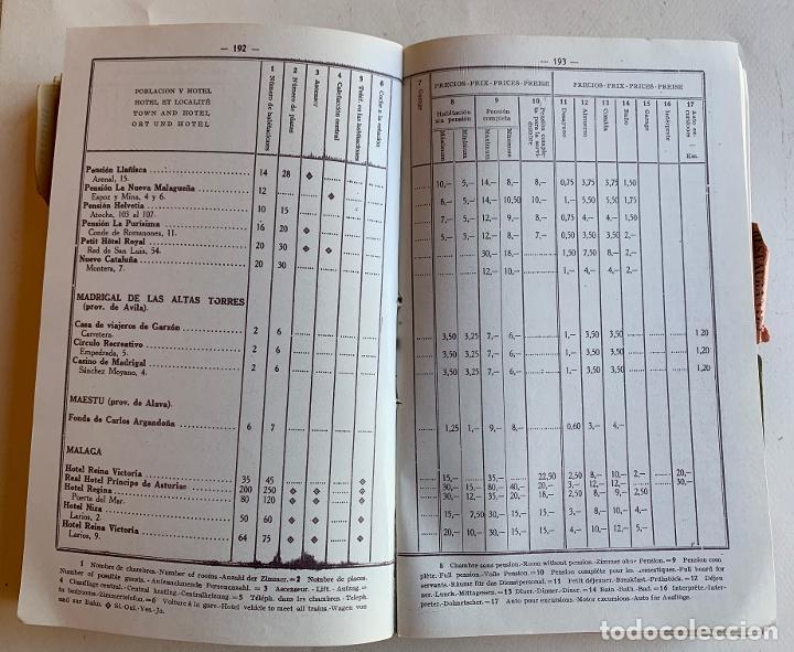 Libros antiguos: GUIA OFICIAL DE HOTELES , PENSIONES , CASAS DE VIAJEROS , RESTAURANTES , BARES Y GARAGES . 1929 . - Foto 7 - 210475656