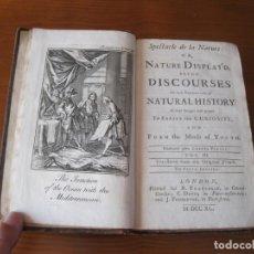 Libros antiguos: SPECTACLE DE LA NATURE, EN INGLÉS, TOMO III, 1740. A. PLUCHE. 31 GRABADOS. Lote 211692775