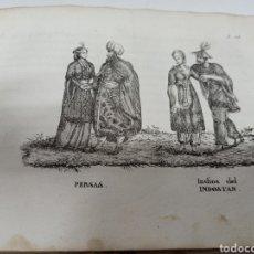 Libros antiguos: ANTIGUO LIBRO - LA GEOGRAFÍA EN LÁMINAS Y MAPAS. USOS, TRAJES Y COSTUMBRES . 1834 34 GRABADOS. Lote 211695240