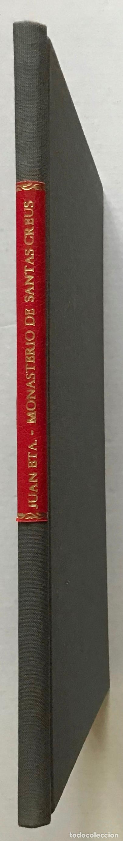 Libros antiguos: MONASTERIO DE SANTAS CREUS (TARRAGONA). MEMORIA DESCRIPTIVA leída en la excursión verificada á dicho - Foto 2 - 123232046