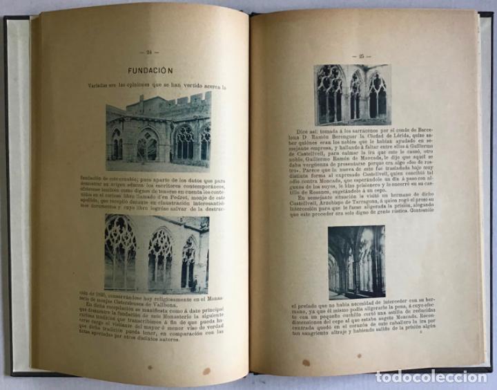 Libros antiguos: MONASTERIO DE SANTAS CREUS (TARRAGONA). MEMORIA DESCRIPTIVA leída en la excursión verificada á dicho - Foto 4 - 123232046