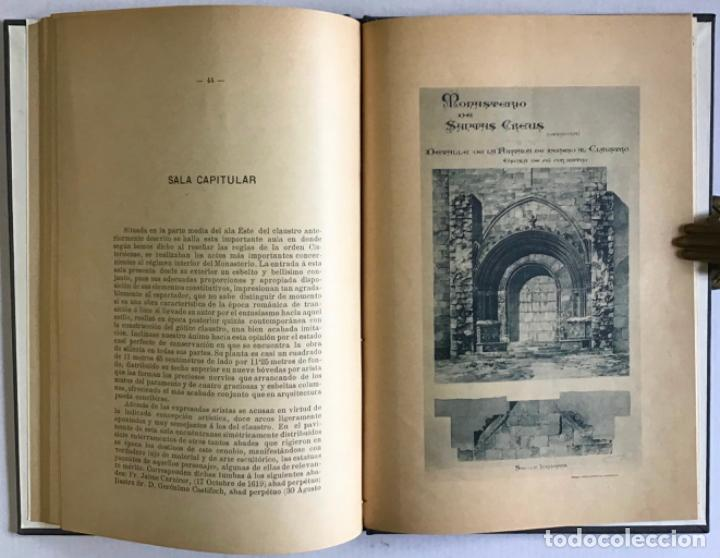 Libros antiguos: MONASTERIO DE SANTAS CREUS (TARRAGONA). MEMORIA DESCRIPTIVA leída en la excursión verificada á dicho - Foto 5 - 123232046