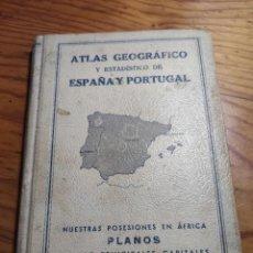Libros antiguos: ATLAS GEOGRÁFICO Y ESTADÍSTICO DE ESPAÑA Y PORTUGAL (MOLINS, 1936). Lote 213751312
