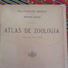 Libros antiguos: ATLAS DE ZOOLOGÍA, 1907 PORTUGUES. Lote 213762667