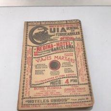Libros antiguos: ANTIGUA GUÍA GENERAL DE FERROCARRILES - FUNDADA EN 1892 POR DON PEDRO MÉNDEZ DE VIGO. Lote 214142082