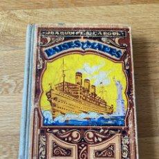 Libros antiguos: PAISES Y MARES, TERCER MANUSCRITO - JOAQUIN PLA CARGOL (DALMAU CARLES, 1933). Lote 214801790