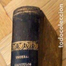 Libros antiguos: CAPÍTULOS DE UN LIBRO, SENTIDOS Y PENSADOS VIAJANDO POR LAS PROVINCIAS VASCONGADAS (1864). Lote 214854780