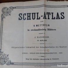 Libri antichi: SCHUL ATLAS H WETTSTEIN J RANDEGGER 1886. Lote 216760442