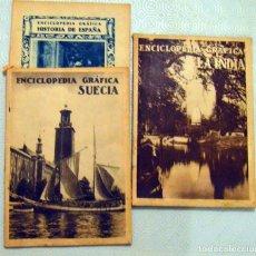 Libri antichi: ENCICLOPEDIA GRÁFICA / SUECIA - INDIA - HISTORIA DE ESPAÑA. Lote 217746431